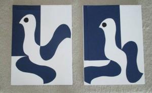 zwei Bilder Tauben